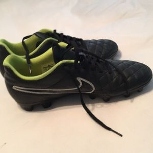 Men's Nike Tiempo soccer cleats.
